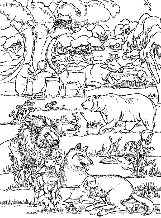 Heavenly Peace Coloring Page