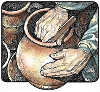 in the potters hand - Isaiah 64 8 Coloring Page