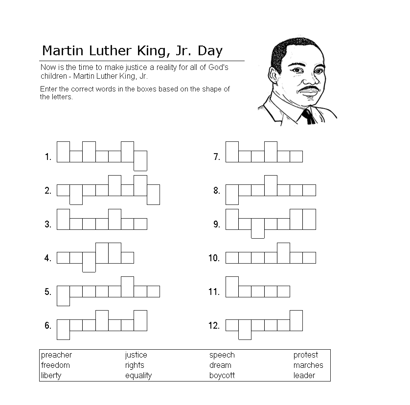 Martin Luther King Worksheets Free Printable Free Worksheets – Martin Luther King Worksheet