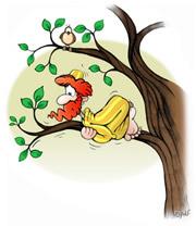 Zaqueo sube a un árbol