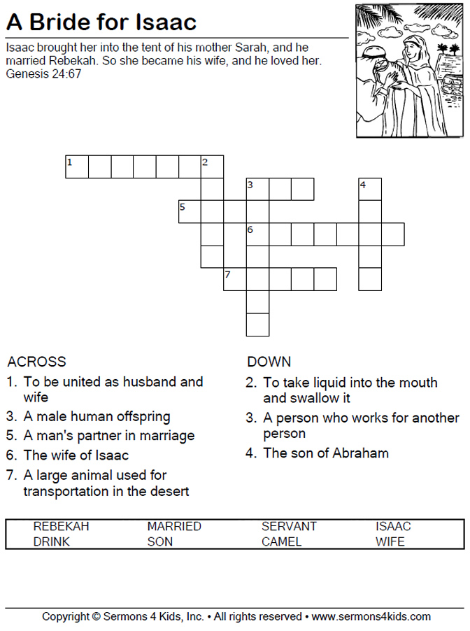 A Bride For Isaac Crossword Puzzle