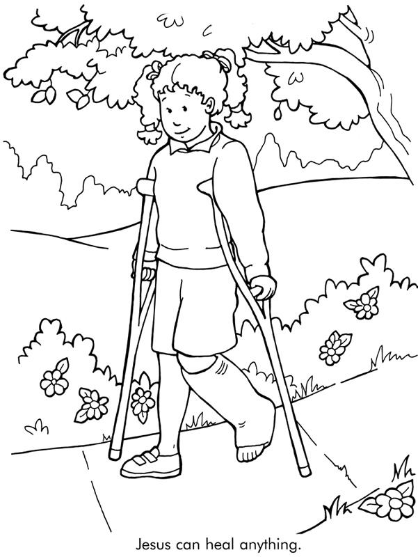Bible Coloring Page Jesus Healing Pictures to Pin on Pinterest