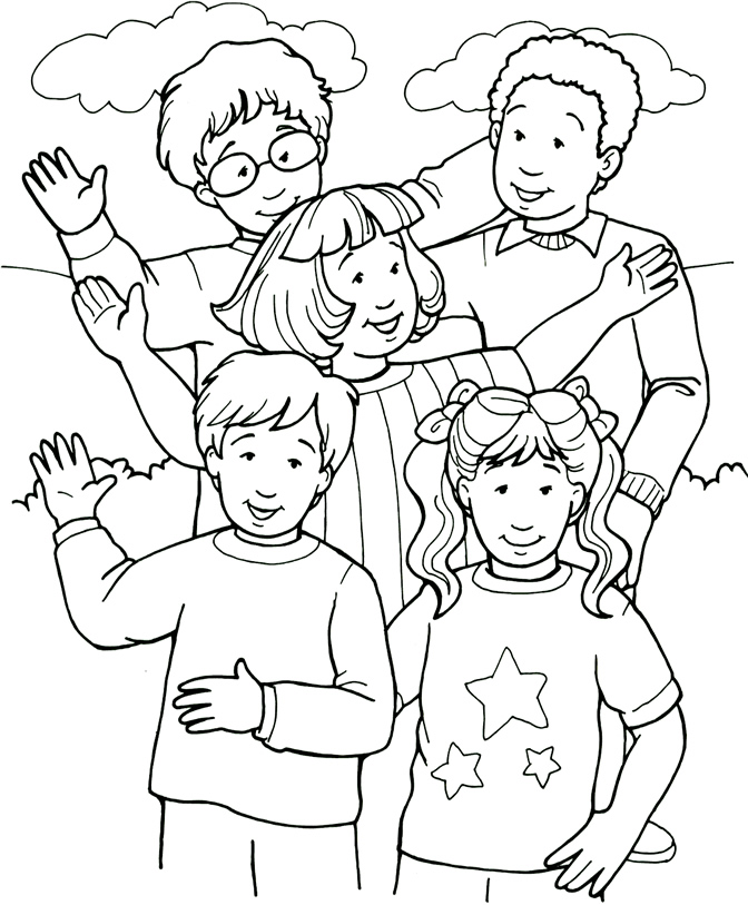people coloring pages for kids - photo#4