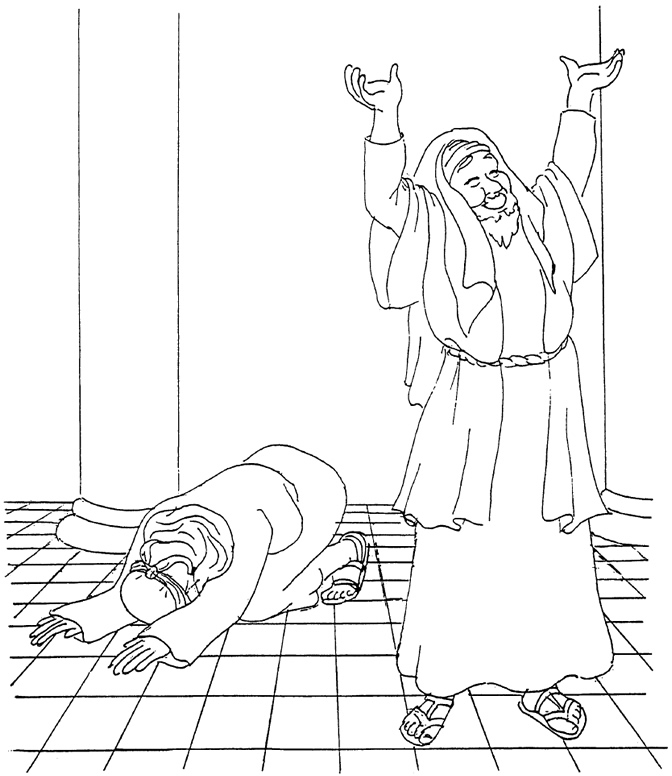 The Pharisee And The Tax Collector Coloring Page