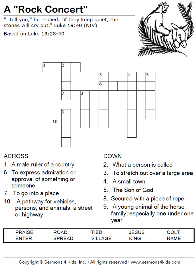 """Rock Concert"""" - Crossword Puzzle"""