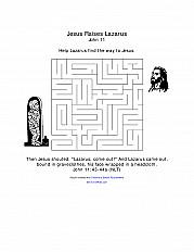 Jesus Raises Lazarus Coloring Page Sermons4kids
