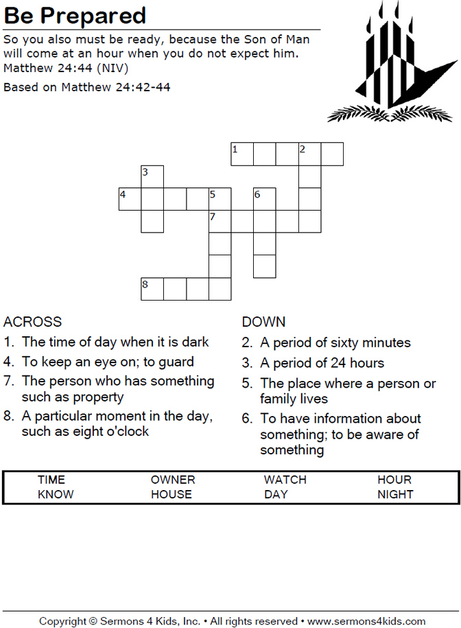 Advent Crossword | Search Results | Calendar 2015
