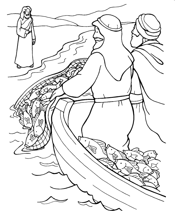 Fishing for People (Mark) Coloring Page | Sermons4Kids