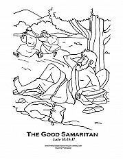 Good Samaritan 1 Coloring Page Sermons4kids