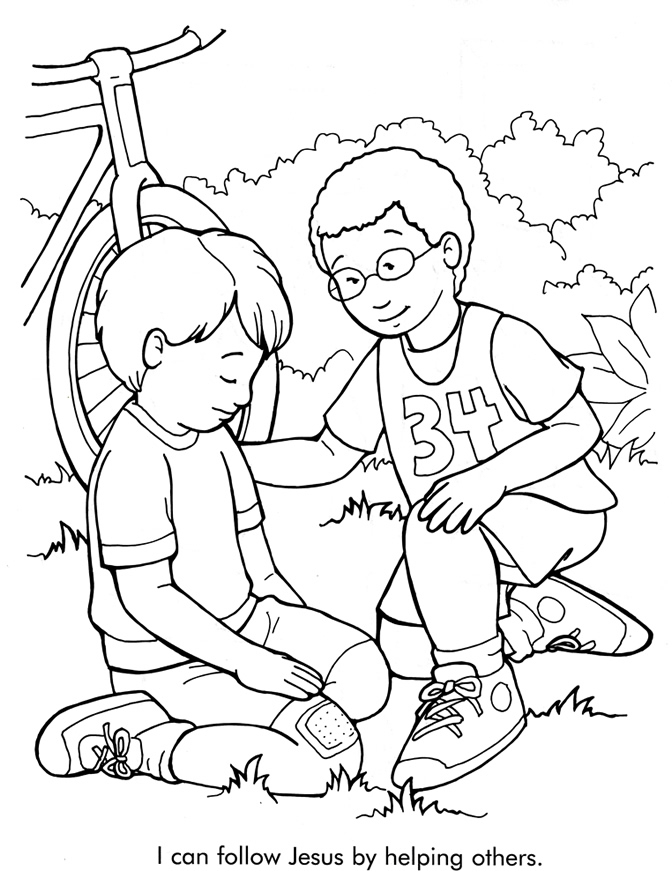 helping others coloring pages free - photo#1
