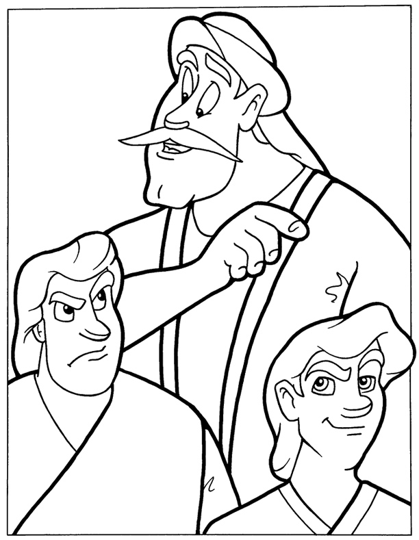 The Parable Of The Two Sons Coloring Page