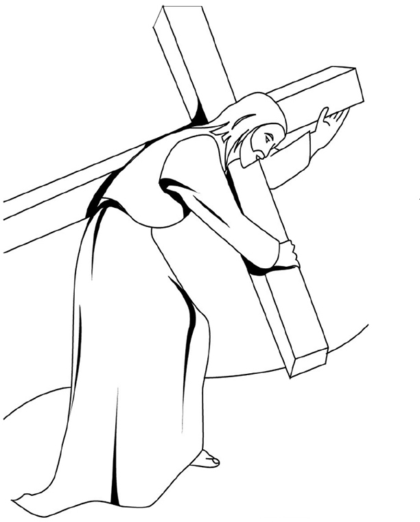 Take Up Your Cross And Follow Me Coloring Page Coloring Pages