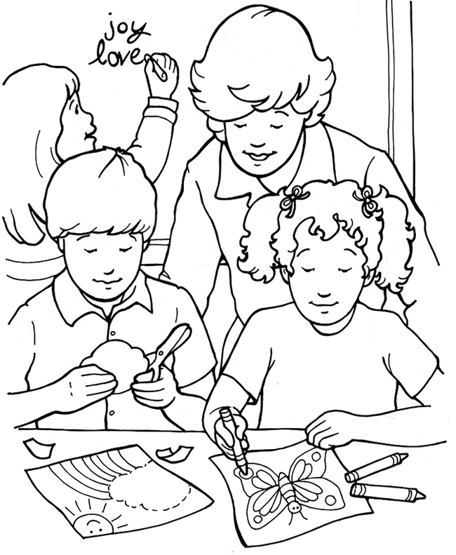 Heart Full Of Joy Coloring Page | Sermons4Kids