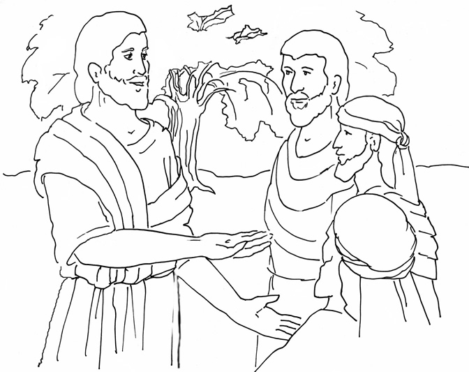 mustard seed parable coloring page - parable of the mustard seed coloring page