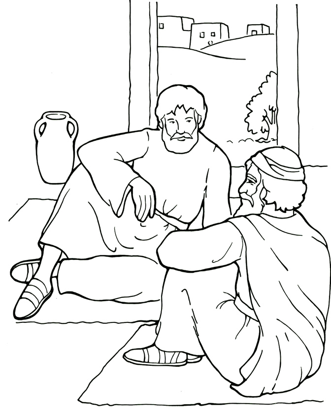 Holiday Coloring Pages David And Mephibosheth Page Paul Barnabas On