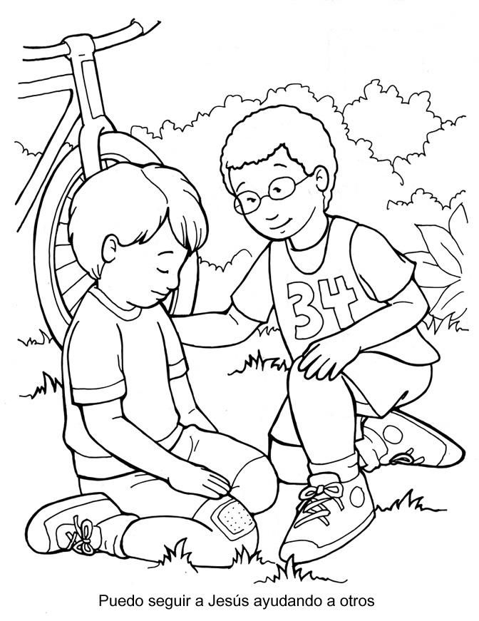 people following jesus coloring pages - photo#3
